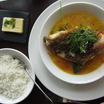 Cod stew with rice