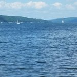 nearby Lake Cayuga