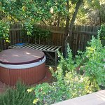 Hot Tub overlooking garden