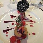 Entrée de foie gras et homard