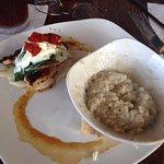 Tuscan Chicken_goat cheese_sun-dried tomato w mushroom risotto