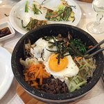 Bibimbap et omelette coréenne