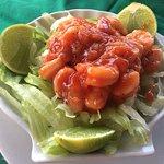 Ceviche de camarão.