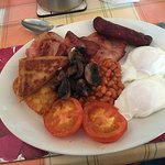 The breakfast (number 6 on the list of brekky choices) as long as between 8am and 9am is conveni