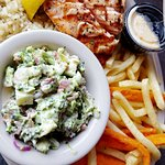 Salmon Plate with Broccoli Cole Slaw