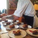 Head Chef Vinson Petrillo teaching Zero George cooking class
