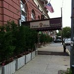 Side view of hotel entrance on 47th Street and 13th Avenue, Brooklyn NY