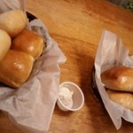 Rolls with sweet honey butter!