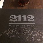The menus all have rock star signatures. Nice touch!