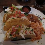 Grilled Cod Tacos with beans and rice (special)