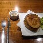 Graft Wine and Cider Bar's Gourmet Grilled cheese with all local ingredients. YUMM!