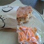 The Buffalo Bleu Chicken Sandwich and Carrots