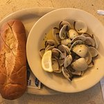 Clams and Fresh Bread- Oh MY!