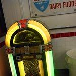 Jukebox & old sign