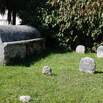 Different stones and burials in this garden of stone.