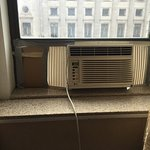 No central air. They actually had a window AC Unit held together with duct tape and cardboard. R