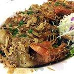 BEST DISH! Tiger prawn, sweet soy Garlic Sauce