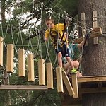 Having a blast on the ropes courses