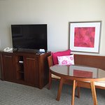 "Executive ""suite"" - Though adjoining door into living room - Sad, awkward, uncomfortable!"