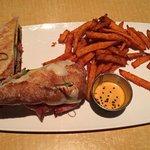 Cuban Sandwich and Sweet Potato Fries