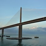 Passing Under Skyway Bridge_Tampa Bay