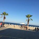 The beach from the tiki bar deck