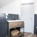Penthouse washroom sink