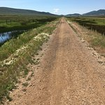 Union Pacific Rail Trail - good example of what the first 6-8 miles of trail looks like