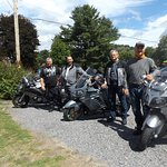 4 well rested bikers after a night's sleep at Best Western Smith's Falls Ontario