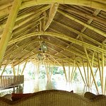 The fascinating and beautiful bamboo structure of the yoage hall