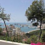 Port of Malaga from balcony of room