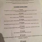 9 course menu