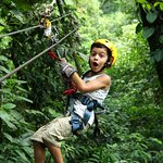 My 6 year old zip lining for his first time!!!