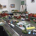 A huge model train room.