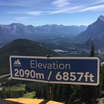 view of Banff townsite from the top of Mt. Norquay
