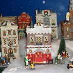 Plenty of Christmas village set ups