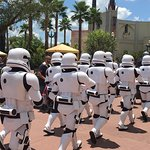 Storm Troopers marching in at Hollywood Studios