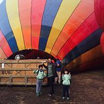 Hot air ballooning in Little governors camp.
