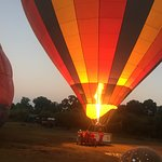 Hot air ballooning in little governors camp