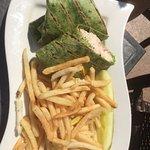 Tuna wrap with fries