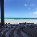 View from the beach cabanas