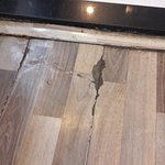 Cracks on the floor