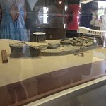A model on the mainland museum explains what you will see