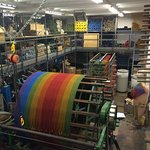 Another part of the factory to visit and see the wools being stored.
