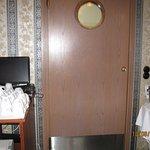 swinging kitchen door