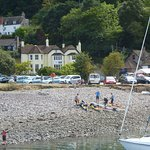 The Cafe` Hotel taken from the other side of Porlock Weir