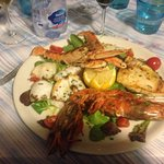 This was the mixed seafood grill.
