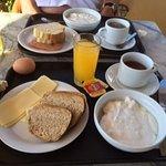ontbijt zeer compleet voor griekse begrippen