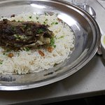 Mansaf, a lamb and rice dish.  (The Hanith Lamb is better!)
