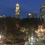 The view from our balacony overlooking Faneuil Hall